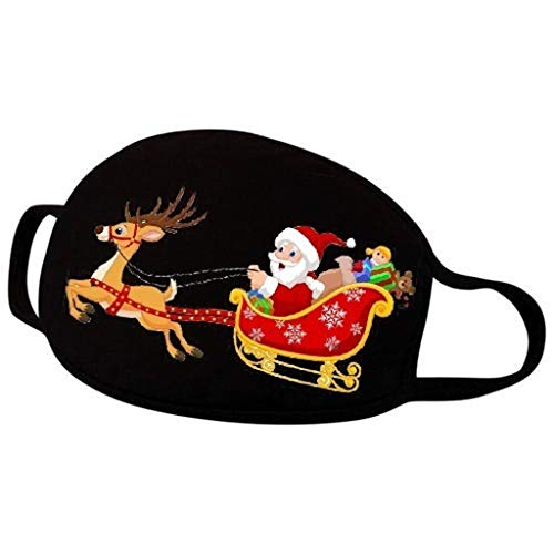 Christmas Print Face_Masks, Santa Claus,Mouth Cover Reusable Washable,Sun UV Protection Summer Balaclava Outdoor