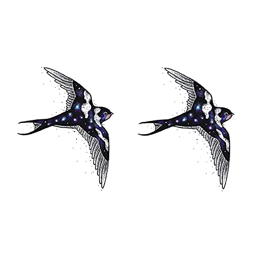 5 feuilles d'autocollants de tatouage d'hirondelle imperméable à l'eau femme durable mignon petit autocollants de tatouage de tentation sexy frais