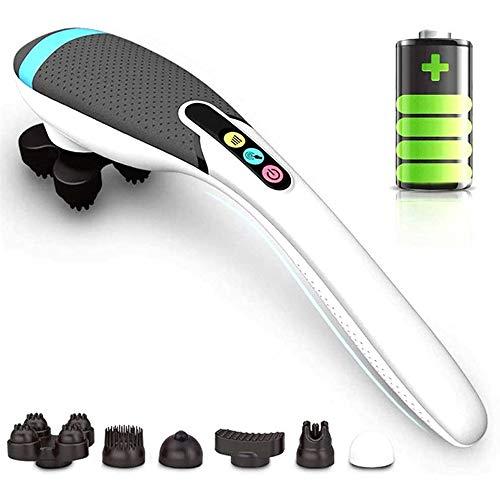 Hand Elektro-Massagegerät, Wireless Charging Massagerstock Heizung Cordless Massagemultifunktions Cervical Rücken Nacken Taillen-Massage-Hammer