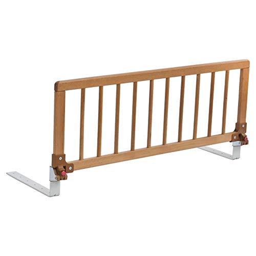 Bettgitter 32 cm hohes Sicherheitsbettgitter für das Etagenbett im Schlafsaal für Kinder, klappbare Zaunblende am Nachttisch, Holz - Länge 88/105 cm (Color : Wood, Size : 88cm)