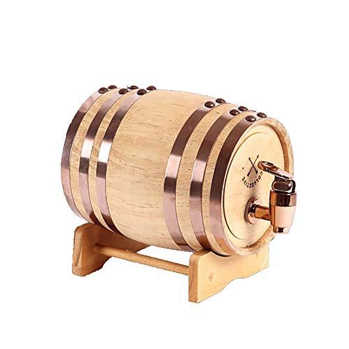 GPWDSN Whiskyfass Tisch, Vintage Wood Oak Timber Weinfass, handgefertigt aus weißer Eiche, für Bier Whisky Port Mini Weinfass (A, 10L)