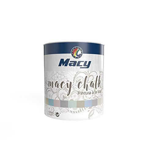 Pintura Macy-Chalk para Interior. Acabado Efecto Tiza-Empolvado. Redecora tus muebles. 375 Mililitros. Color Blanco Tiza