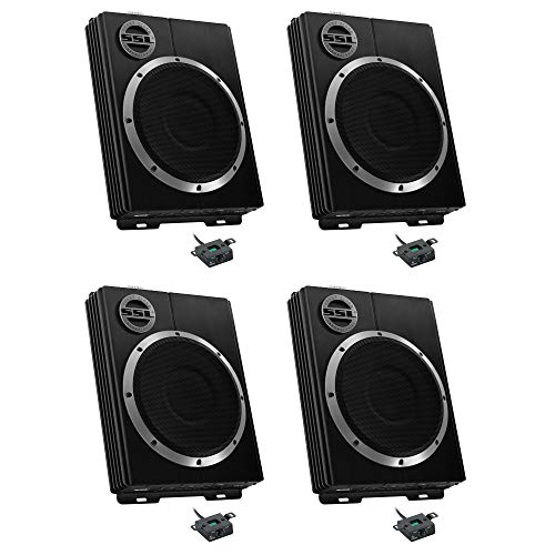 """NEW SOUNDSTORM 10"""" 1200W Car Audio Slim Under Seat Powered Subwoofer (4 Pack)"""