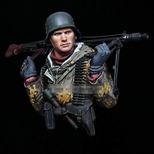 CHOUDOUFU Sculpture Figurine Ornament 1/10 World War Ii Machine Gunner Soldier, Resin Model Bust Gk, Military Theme, Unassemband Unpainted Kit