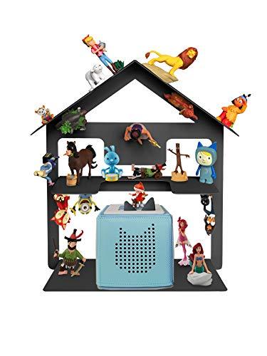 Tonie Box Regal, Regal für Kinder Sammelset Haus - Tonie Toniebox Zubehör - Geeignet für über 32 Tonies - Magnetisch beliebig fixierbar in anthrazit-grau (Anthrazit-grau)