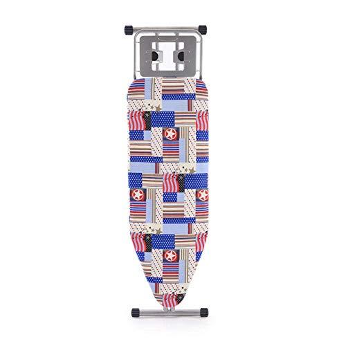 woyaochudan Mesa de Planchado Antideslizante Plegable para el hogar 110 * 30 * (73-85) con Tabla de Planchar con Soporte de Unidad de Vapor sólido