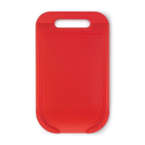 Brabantia Linea Tasty Colours Tagliere Medium, 33 x 20 x 0.9 cm, con Finiture Anti-Scivolo in Silicone, Rosso