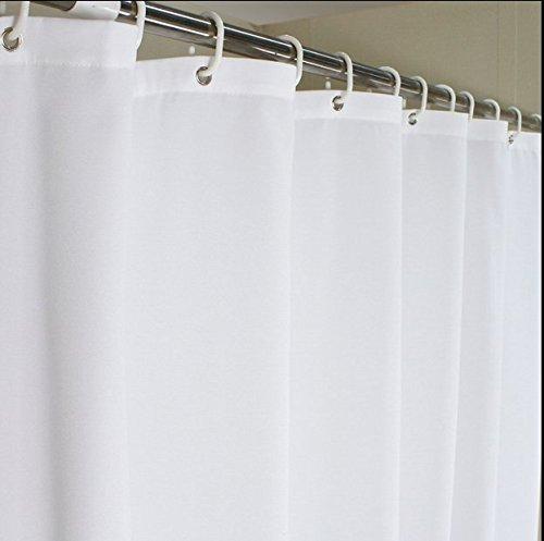 eforcurtain Heavy Duty Duschvorhang, wasserdicht & mildew Badezimmer Vorhang Stoff, Polyester, reinweß, 72x75