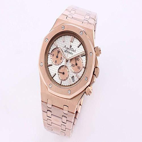 SCGDSB Luxury Men Watch Cronografo Zaffiro Acciaio Inossidabile Oro Rosa Querce Verde Brillante Bianco Royal Orologi Cronometro Bianco