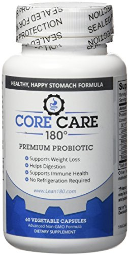 Lean 180 Best Probiotics Natural Supplement for Men and Women, Supports Weight Loss, Helps Digestion, Reduces Bloating Constipation Diarrhea Gas (30 Day Supply) - Core Care 180