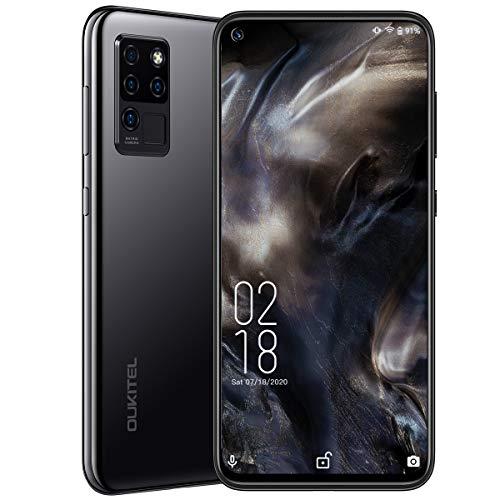 """Móviles y Smartphones Libres,OUKITEL C21 Android 10 4G Telefonos Moviles Dual SIM,Pantalla FHD+ de 6.4"""" 4GB RAM+64GB ROM Helio P60 Móviles,4000 mAh Bateria Cuatro Cámaras Smartphone,Nergo"""