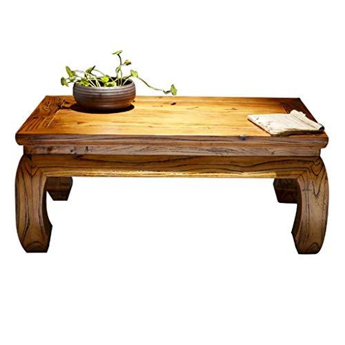 ADSE Tables Basses Vieux Orme Chambre Baie vitrée Table en Bois Massif Tatami Balcon Petite Table Zen thé Table Meubles Tables