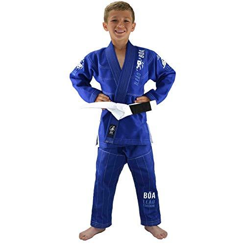 Bõa BJJ GI leão 2.0, Kimonos (Brazilian Jiu Jitsu) Niños, azul, tamaño M3/130