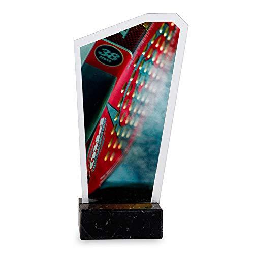 Trofeos Martínez - Trofeo de metacrilato Impreso a Color con Base mármol Pádel. (19cm)
