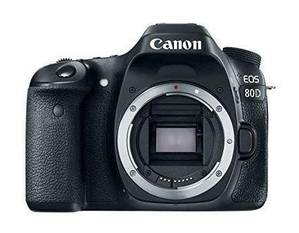 Canon EOS 80D Digital SLR 24,2 MP Kameragehäuse, nur mit APS-C Sensor, 7 fps, Dual Pixel CMOS AF, Schwarz
