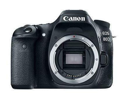 Canon EOS 80D Digital SLR 24.2 MP Camera Body Only with APS-C Sensor, 7 fps, Dual Pixel CMOS AF - Black
