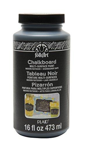 FolkArt FA2725 Multi-Surface Chalkboard Paint (16 Ounce), 2725 Black