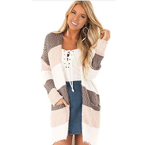 YOURUOMEI dames cardigan herfst lente mantel lange pullover