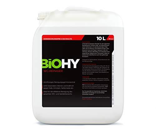 BIOHY | Detergente per WC, tanica da 10 litri ecologica, detergente per urina extra forte, detergente per WC concentrato, profumo fresco, detergente biologico professionale, uso frequento