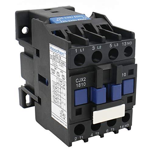 Heschen AC Contactor CJX2-1810 220V 50/60Hz Coil 3P 3 Pole Normally Open Ie 18A Ue 380V