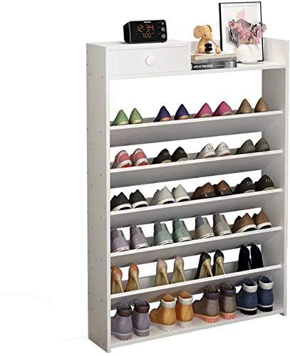 Bastidores de zapatos Simple Shoe Rack Multi-Layer Economicy Home Gabinete de zapatos Multifunción a prueba de polvo puede alojar un organizador de estantes de almacenamiento de 24 pares para Pasillo,