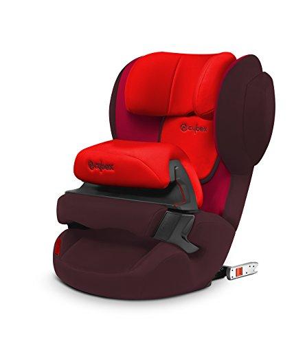 Cybex Silver Juno 2-Fix Seggiolino Auto per Bambini con ISOFIX, Gruppo 1, adatto per 9-18 kg, Rosso/Rumba Red