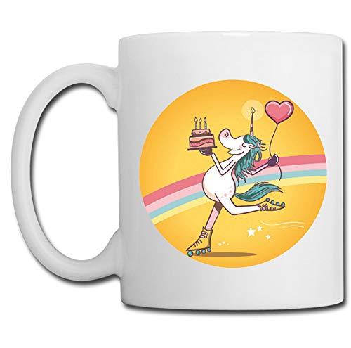 Linyatingoshop - Tazza con unicorno, idea regalo per bambini, compleanno