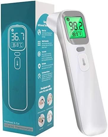 Forehead and Ear Thermometer Non Contact Infrared Thermometer for Baby Kids and Adults Instant product image