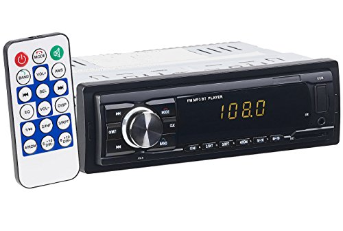 PEARL Radio Auto, Bluetooth: MP3-Autoradio mit Bluetooth, Freisprech-Funktion, USB & SD, 4X 45 Watt (Autoradios 1 DIN, Bluetooth)