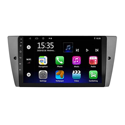 Reproductor Multimedia Estéreo para Coche con Pantalla Táctil De 9 Pulgadas para BMW E90 / E91 / E92 / E93, Android 8.1 Doble DIN/BT/WiFi/Mirrorlink/SWC/Cámara De Visión Trasera,8 core-4G+WiFi: 1+16G