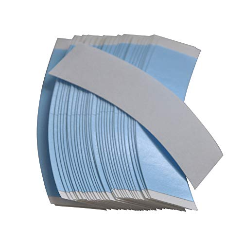 36pcs Blue Double Sided Waterproof Lace Wigs Adhesive Tape Strips For Lace Front Wig Toupee