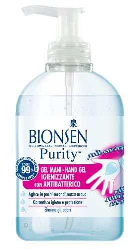 Bionsen, Purity Gel Mani Igienizzante Con Antibatterico Senza Risciacquo, Soluzione Disinfettante...