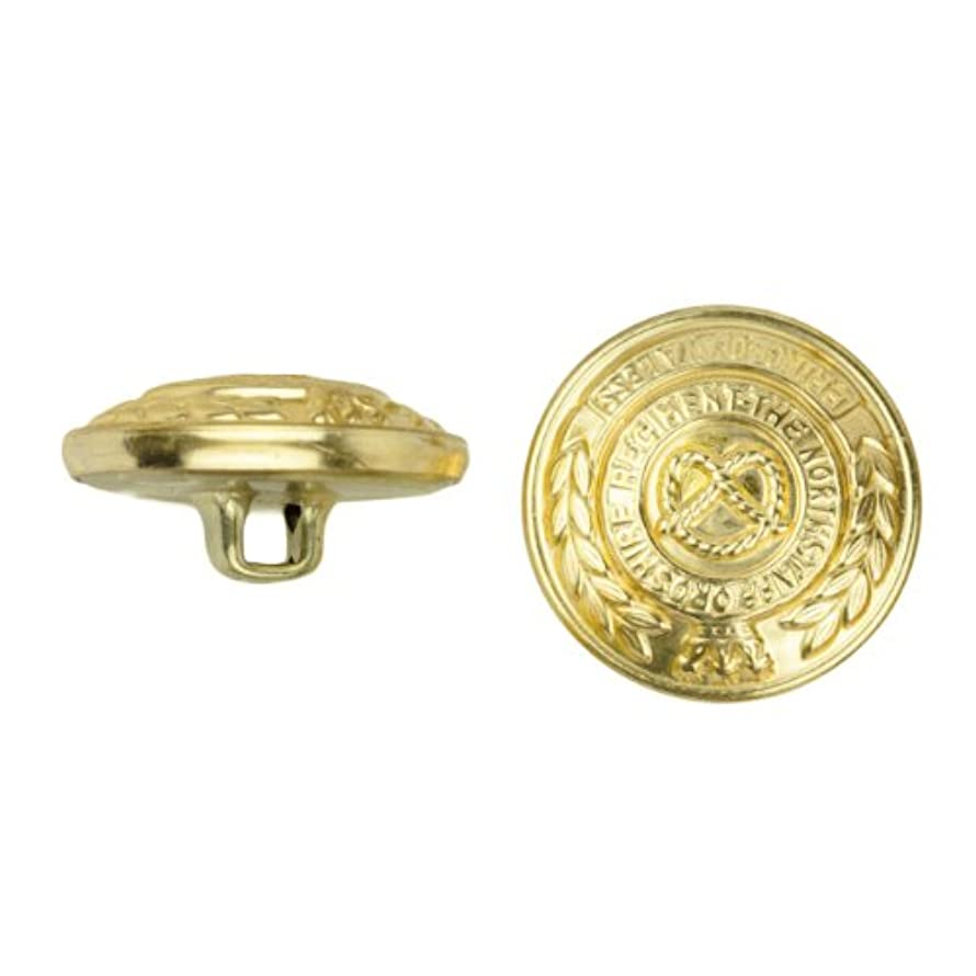 C&C Metal Products 5032 Heraldic Metal Button, Size 30 Ligne, Gold, 36-Pack