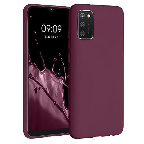 kwmobile Hülle kompatibel mit Samsung Galaxy A02s - Hülle Handyhülle - Handy Hülle in Bordeaux Violett
