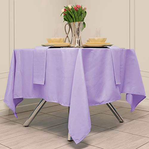 Kadut Square Tablecloth 70 x 70 Inch Lavender Square Table Cloth for Square or Round Table | Heavy Duty | Washable Tablecloth for Parties, Weddings, Kitchen, Restaurant, Wrinkle-Resistant Table Cover
