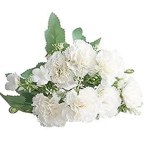 NIUXICH Fake Silk Carnations Hydrangea Bouquet,Artificial Flowers Plastic Realistic Flower Arrangements for Wedding Home Decoration Table Centerpieces Mothers Day