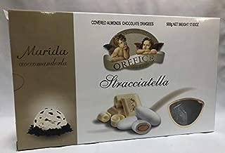 Flavored Italian imported Confetti candy covered almonds chocolate dragee STRACCIATELLA flavor for wedding, baptism Orefice 1.1LB - 500 grams GLUTEN FREE