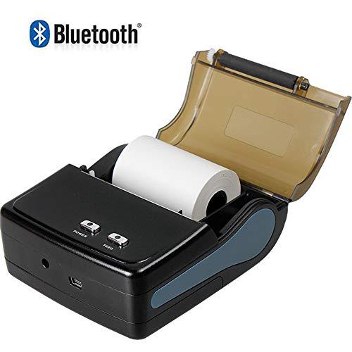 Pinkskattings@ Bluetooth-ontvangstprinter, 58 mm, eenvoudig te configureren, met oplaadbare batterij, ondersteunt Android/iOS/Windows/ESC/POS