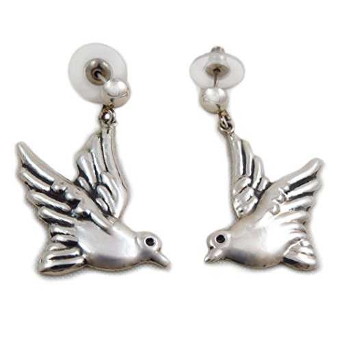 Lovebirds 925 Sterling Taxco Silber Maria Belen Dove Ohrringe