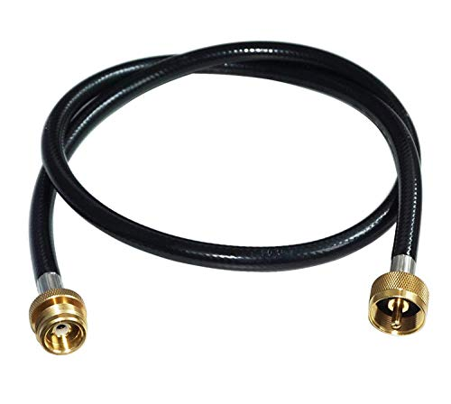 "DOZYANT 5 Feet Propane Distribution Tree Extension Hose Assembly 1"" x20 Female Throwaway Cylinder Thread x 1"" x20 Male Throwaway Cylinder Thread - T and Y Connector"