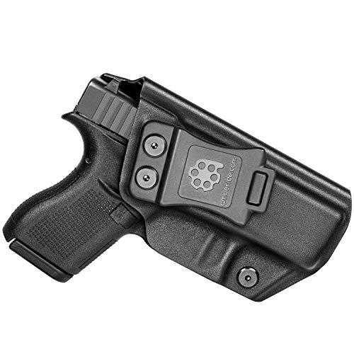 Amberide IWB KYDEX Holster Fit: Glock 42 | Inside Waistband | Adjustable Cant | US KYDEX Made (Black, Right Hand Draw (IWB))