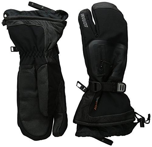 Gordini Men's Fuse Three Finger Waterproof Insulated Gloves, Black, Small