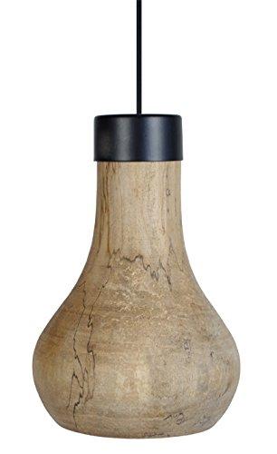 Tosel 15785 Kalutara, Bois Platane Naturel/Cirée/Tôle Acier, Noir, 205 x 900 mm