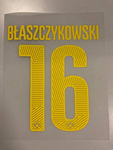 Flock Original BVB Borussia Dortmund Trikot 20cm - BLASZCZYKOWSKI 16