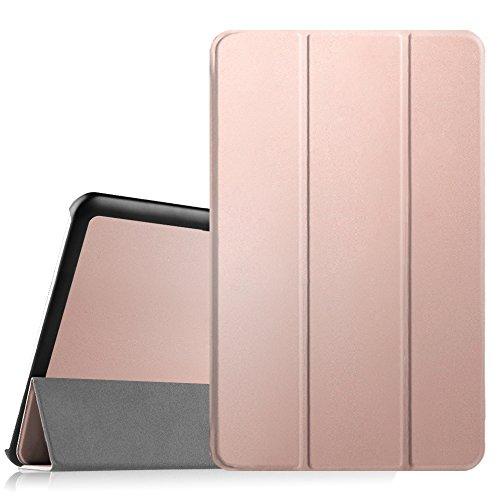 Fintie Hülle für Samsung Galaxy Tab E 9.6 - Ultra Schlank Superleicht Ständer SlimShell Cover Schutzhülle Etui Tasche für Samsung Galaxy Tab E T560N / T561N 24,3 cm (9,6 Zoll) Tablet-PC, Roségold