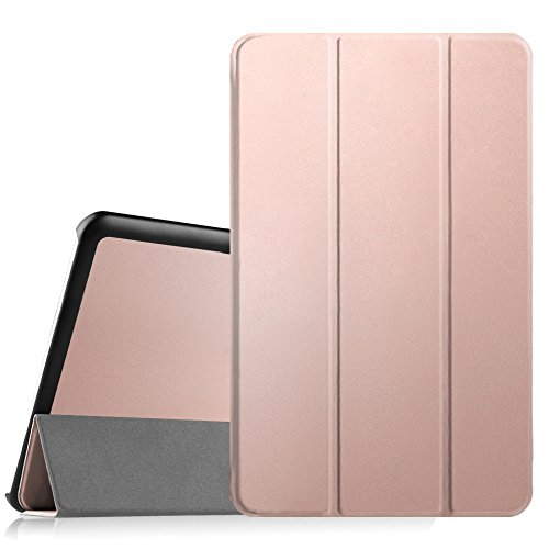 FINTIE Case for Samsung Galaxy Tab E 9.6-Inch Tablet (SM-T560 / T561 / T565), Super Thin Lightweight Stand SlimShell Cover, Rose Gold