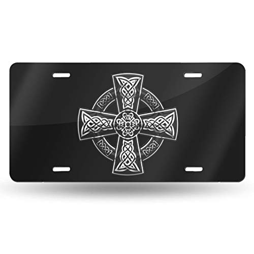 Celtic Cross License Plate Vanity Auto Car Tag for Decoration 6x12 Inchs Custom Design