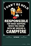 I Cant Be Held Reponsible Notebook: A Notebook, Journal Or Diary For Camper, Camping Lover - 6 x 9 inches, College Ruled Lined Paper, 120 Pages