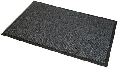 JVL Heavy Duty Large Barrier Slip Resistant Rubber Backed Door Floor Mat, 60 x 150 cm, Grey/Black, Vinyl