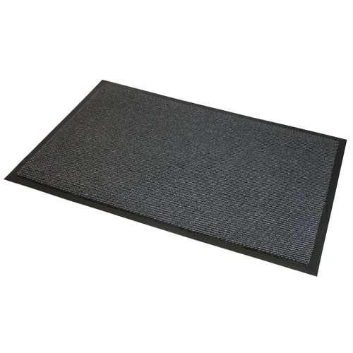 JVL - Felpudo Antideslizante de Goma para Puerta, de Vinilo, Gris/Negro, 80x 120cm, Grande